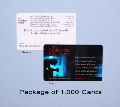 The Salvation Poem Cards: Pack of 1000