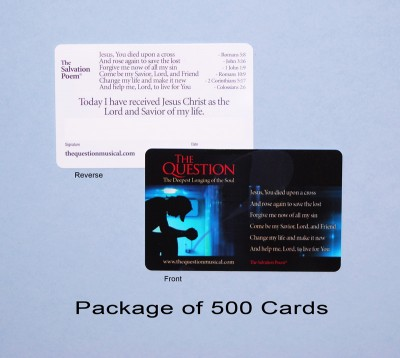 The Salvation Poem Cards: Pack of 500